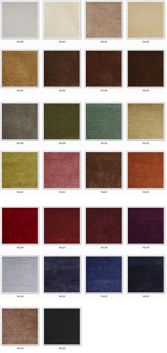 Velluto 200 Samples by Covertex