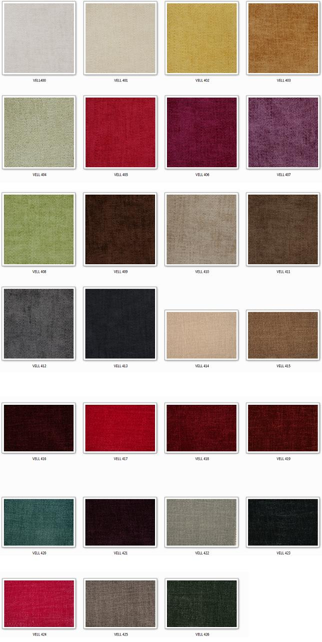 Velluto 400 Samples by Covertex